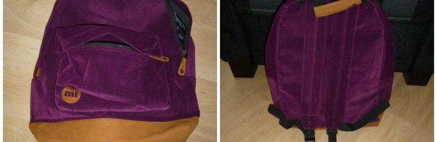 Mi-Pac Cord Purple rugtas rugzak recensie Marington webwinkel webshop review
