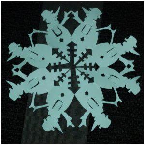 Papieren sneeuwvlokken Annemarie Vermaak Hoby BBNC recensie review papercutten