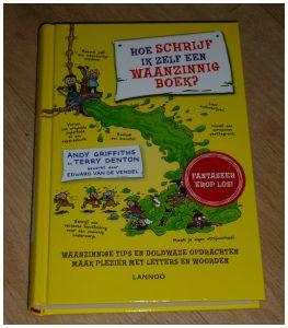 Hoe schrijf ik zelf een waanzinnig boek Andy Griffiths Terry Denton creatief hobby Terra Lannoo recensie review boek schrijven fantasie De waanzinnige boomhut
