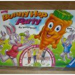 Bunny Hop Party Ravensburger 4+ gezelschapsspel geheugen memorie vangen dansen reactie recensie review