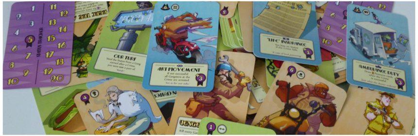 Gang-Up! kaartspel H.O.T. Games 12+ recensie review misdaad crime Engels status