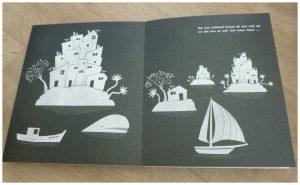 Het begon met de zee Eleonore Douspin Clavis recensie review prentenboek pop-ups eiland