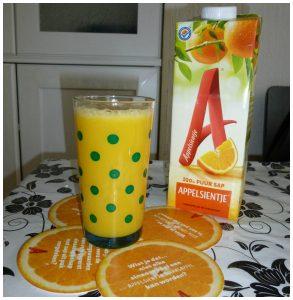 Appelsientje Sinaasappelsap 100 % puur sap houdbaar milde pasteurisatie uit concentraat Brazilië The Insiders testen geld-terug-actie gratis