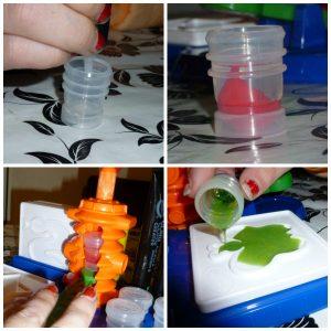 Crayola Cling Creator knutselen gelstickers maken ontwerpen kleuren mengen recensie review