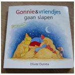 Gonnie & Vriendjes gaan slapen Olivier Dunrea voelboekje kartonboekje Gottmer recensie review slapen gaan bedtijd