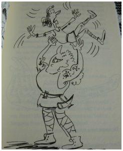 Siggi & De Vikingen De vloek van Freya Elisabeth Mollema Uitgeverij Moon graphic novel tekeningen humoristisch spanning lachen runen spreuken slaven recensie review