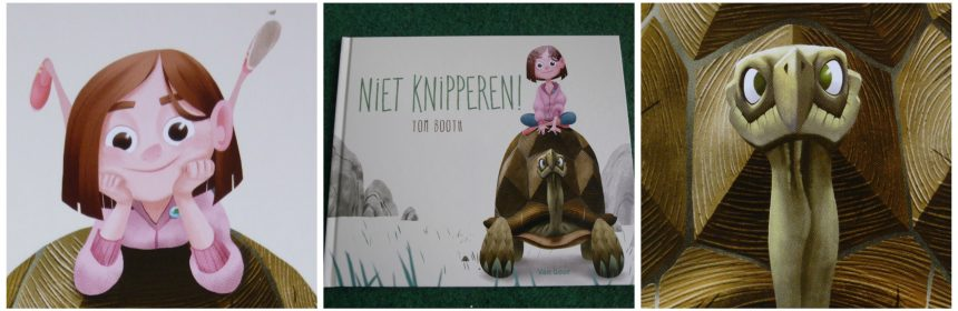 Niet Knipperen! Tom Booth prentenboek spelletje staren Van Goor recensie review