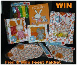 Win een Fien en Milo Feestpakket winactie winnen feestartikelen vriendjes knuffels speelpoppen