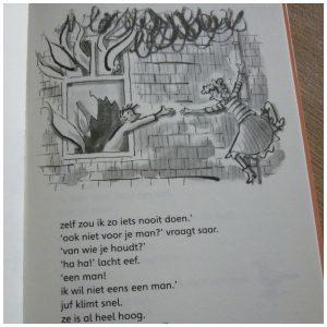 Kom van dat dak, juf! Corien Oranje Royal Jongbloed Leren Lezen AVI M3 Marja Meijer humor spanning recensie review