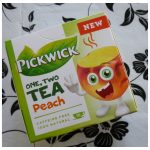 Pickwick One Two Tea Perzik Kids Tea kinderhee zoethout hoge bloeddruk kamille recensie review