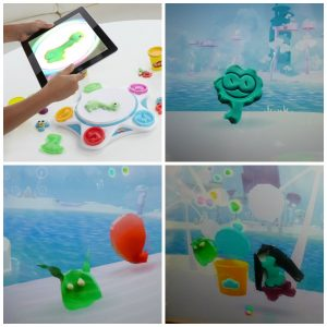 Play-Doh Touch Studio speelklei Play-Doh Touch app gratis kleien scannen digitale wereld kleur creatie leven gereedschap vormpjes potjes kleuren recensie review