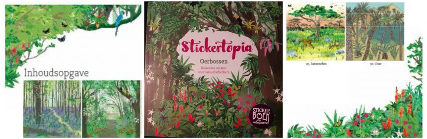 Stickertopia Oerbossen Kate Sutton Luci Everett Yan Yan Candy Ng Hobby creatief rust ontspanning sticktertopia bloementuinen recensie review
