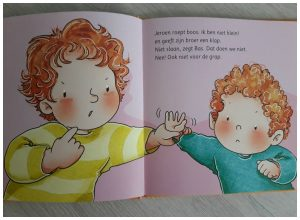 Bas doet het voor Corien Oranje Baby- en peuterboeken Uitgeverij Groen Bas Educatie school regels luisteren karaktervorming recensie review