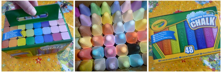 Crayola Stoepkrijt krijtjes kleuren helder assortiment scala stoepen buiten spelen tekeningen verpakking vierkant recensie review