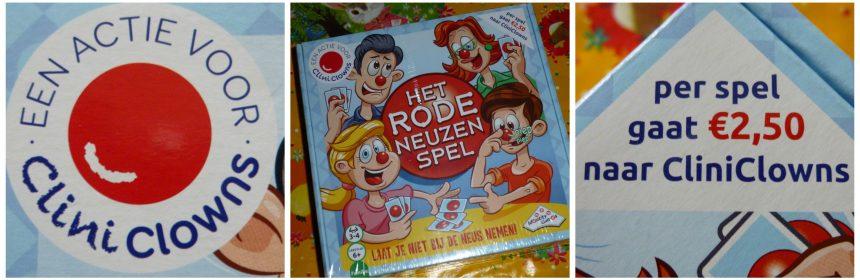 Het rode neuzen spel Identity Games bluffen blufspel kaarten memorie rubberen neuzen piepneuzen CliniClowns steun donatie zieke kinderen speelplezier recensie review