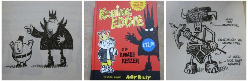 Koning Eddie en de kwade keizer Andy Riley Van Holkema & Warendorf Zelf Lezen graphic novel tekeningen humor spanning fantasie recensie review