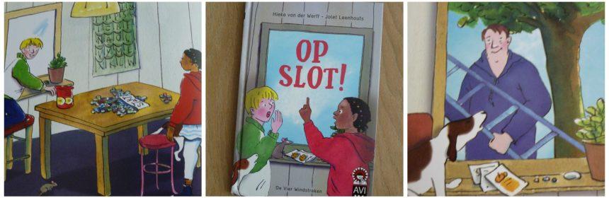 Op Slot! Hieke van der Werff Hoera, ik kan lezen! De vier Windstreken AVI M4 beginnende lezertjes escape-room tuinhuisje moestuin sleutel dyslexie recensie review