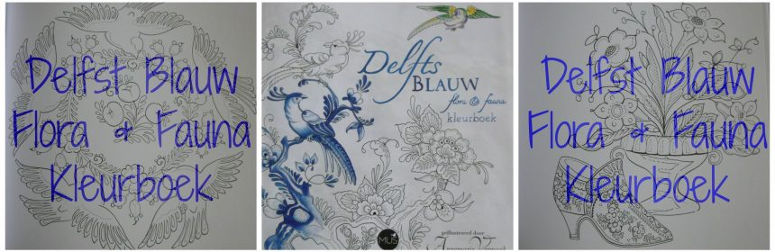 Delfts Blauw Flora & Fauna Kleurboek Hobby kleuren BBNC enkelzijdig blauwtinten tekeningen kleurplaten kleurpotloden viltstiften recensie review