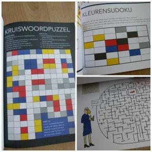 Doeboek Mondriaan Hobby Leopold Gemeentemuseum Den Haag schilder lezen puzzels tekenen creatief zomervakantie leren bezoek recensie review