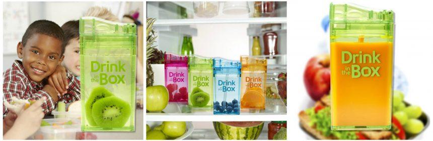 Drink in the Box herbruikbaar pakje drinken zelf vullen water fruit melk limonade rietje lekvrij icepack Ice on the Box school tas beker recensie review