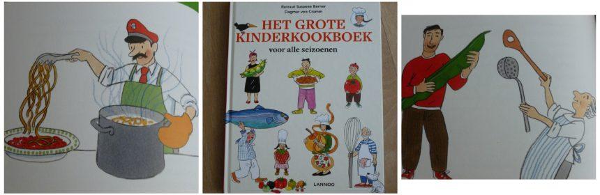 Het grote kinderkookboek voor alle siezoenen Rotraut Susanne Berner Dagmar van Cramm Lannoo kookboek recepten tekeningen speels uitleg recensie review