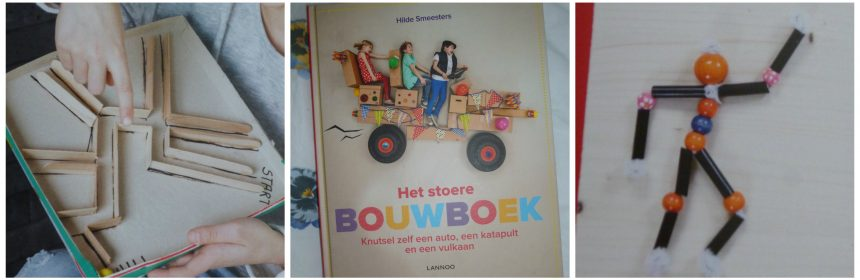 Het stoere bouwboek Hilde Smeesters Lannoo Hobby knutselen experimenten variatie verveling Playmobil knutselwerkjes projecten plezier recensie review