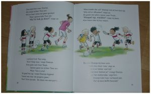 Voetbalsterren: Meiden aan de bal! Vivian den Hollander Van Holkema & Warendorf Leren Lezen AVI M4 voetbal meiden meidenvoetbal recensie review