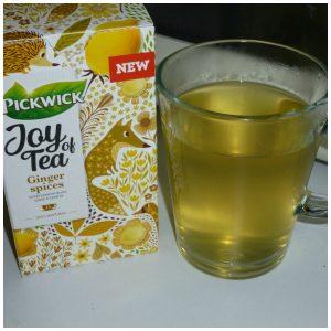 Pickwick Joy of Tea Ginger Spices citroen zwarte thee gember zomerdagen verfrissend citroenthee cadeautje verpakking theezakjes recensie review