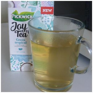 Pickwick Joy of Tea Green Tropical groene thee zwarte thee Green Jasmin verpakking cadeau kado theezakje recensie review