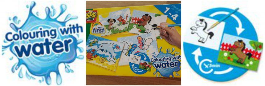 SES My First Kleuren met Water SES Creative verven met water kaarten kwastje water tekeningen kleur drogen hergebruik geen geklieder recensie review