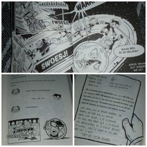 De Melkwegschool John Martin Scott Seegert Zelf Lezen Graphic Novel ruimte universum genie slim wetenschapper oplossing Van Holkema & Warendorf stripverhaaltjes tekeningen recensie review