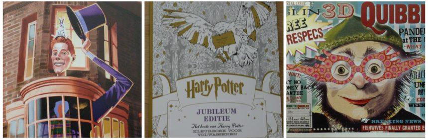 Harry Potter Jubileum Editie Kleurboek voor Volwassenen BBNC recensie review foto's kleurplaten scènes films gebouwen niveaus gedetailleerd simpel magie
