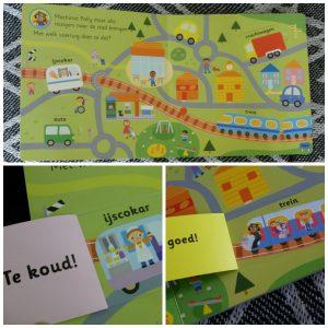 Klussers Aan de slag Stephan Barker Ploegsma baby- en peuterboeken flapjesboek leerzaam karton voertuigen recensie review