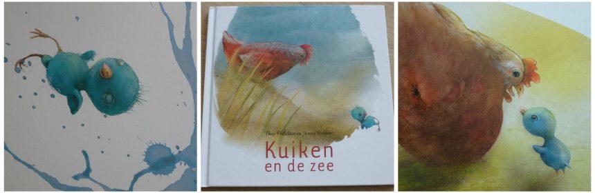 Kuiken en de zee Thea Dubelaar prentenboek Jenny Bakker prenten tekeningen oma kip Concerto BV recensie review