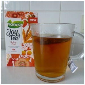 Pickwick Joy of Tea Spicy Chai thee reeks natuurlijk ingrediënten avond pittig cadeau verpakking recensie review