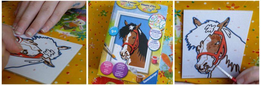 Schilderen op Nummer Paardenblik Iedereen kan Schilderen Ravensburger 9+ verven gekleurde lijnen penseel verf lijstje recensie review