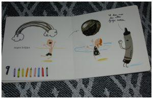 Tellen met de krijtjes De krijtjes staken kartonboekje Oliver Jeffers Drew Daywalt De Fontein peuter tekeningen leren kleuren recensie review