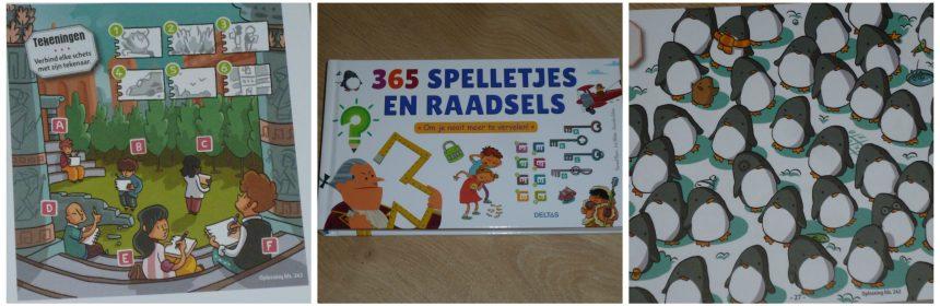 365 spelletjes en raadsels Puzzelboek Deltas 8+ puzzelpret doolhoven zoekplaatjes leesraadsels puzzelsommetjes oplossingen recensie review