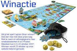 Captain Silver Queen games HOT Sports & Toys bordspel piraten voelen 6+ zakjes piraten voorwerpen tast vulkaaneiland punten speelrondes munten schatkist recensie review winactie