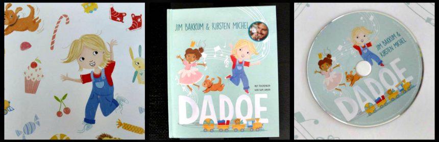 Dadoe Jim Bakkum Kirsten Michel prentenboek met CD Leopold liedjes muziek avonturen verhaaltjes voorlezen tekeningen vrolijkheid zingen songteksten recensie review