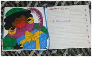 De enige echte Dikke Dames Agenda 2018 Julia Woning BBNC kleurplaten stiften potloden kleuren tekeningen leeslint weekoverzicht recensie review
