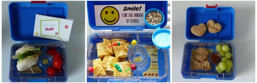 De Leukste Lunch Back-To-School-Pakket Yumbox Mini Snack bento plastic prikkers broodpunch stempel bidon broodtrommelbriefjes webshop webwinkel recensie review