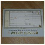 Mama Baas Weekplanner Sofie Vanherpe kalender gezinsplanner weekoverzicht gezinsleden geen datum stickers overzicht recensie review