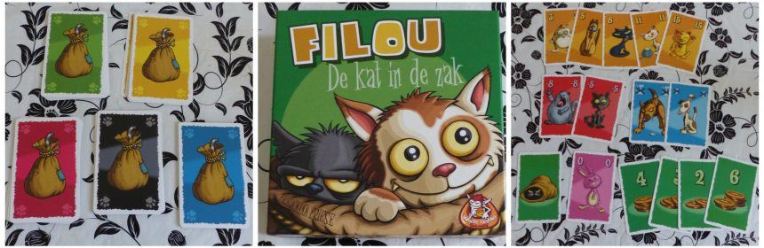 Filou Kat in de zak White Goblin Games kaartspel recensie review