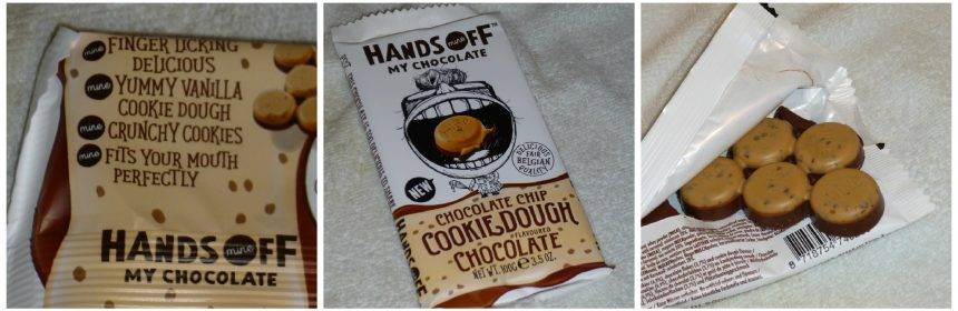 Hands Off My Chocolate Chocolate Chip Cookie Dough chocolade reep melkchocolade vanille combinatie smaken crunch bite verslavend recensie review