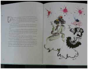 Het verhaal van Mademoiselle Oiseau Andrea de la Barre de Nanteuil Lovisa Burfitt voorleesboek Van Goor prenten excentriek Parijs kleurrijk grijs zelfvertrouwen vriendschap koesteren recensie review