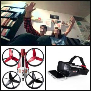 Airhogs DR1 FPV Race Drone binnen buiten indoor outdoor camera filmpjes selfies VR bril VR-bril speelgoed spin master 10+ stunten crashes voertuig cockpit levensecht #AirHogsJoinTheRace WiFi recensie review