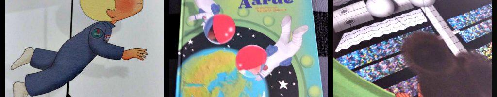 André het astronautje terug naar de aarde André Kuipers Natascha Stenvert Fontaine Uitgevers prentenboek aarde planeet raket boodschap fantasie werkelijkheid tekeningen recensie review