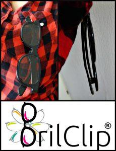 BrilClip Zonnebril leesbril bril mensen neerleggen logische plaats hangen probleem magneten gleufje V-vorm bezigheden huis stoffen kleurtje Bol.com recensie review
