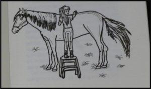 PaardenpraatTV Britt en Esra Het paard zonder ruiter deel vier Joke Reijnders Britt Dekkers tekeningen verhaal humor spanning avontuur jongens meiden cowboy cowgirls geheim recensie review